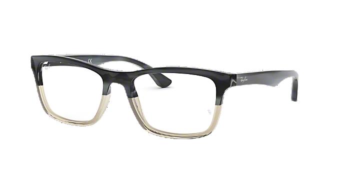 63d0318109 RX5279  Shop Ray-Ban Silver Gunmetal Grey Eyeglasses at LensCrafters