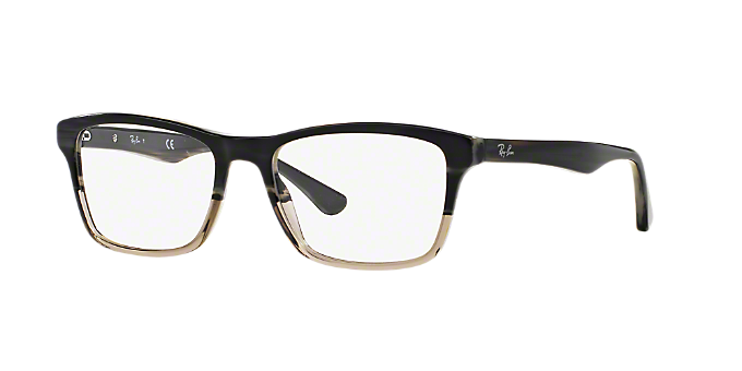 82ddb637f8 RX5279  Shop Ray-Ban Silver Gunmetal Grey Square Eyeglasses at ...