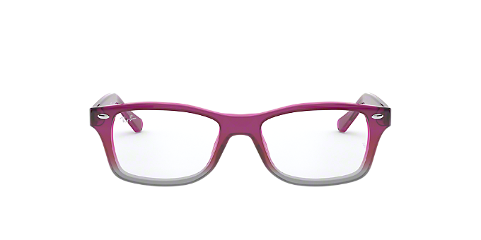 RY1531: Shop Ray-Ban Jr Pink/Purple Pilot Eyeglasses at LensCrafters