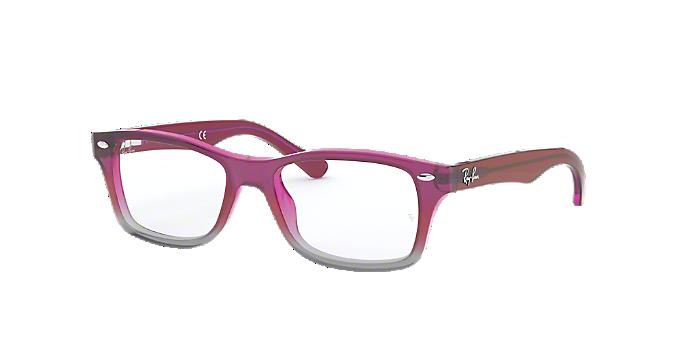 18e91c63ac RY1531  Shop Ray-Ban Jr Pink Purple Pilot Eyeglasses at LensCrafters