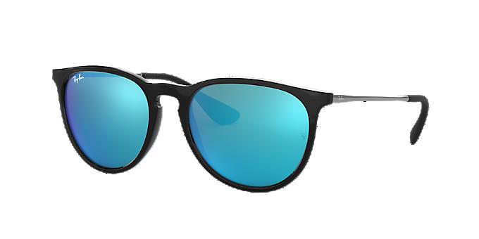 e40d7e5f82f30 RB4171 54 ERIKA  Ver Gafas de sol estilo aviador Ray-Ban Black en ...
