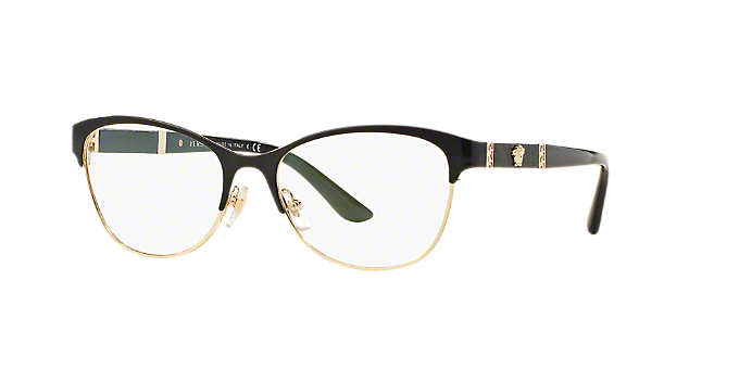 VE1233Q: Shop Versace Black Geometric Eyeglasses at LensCrafters