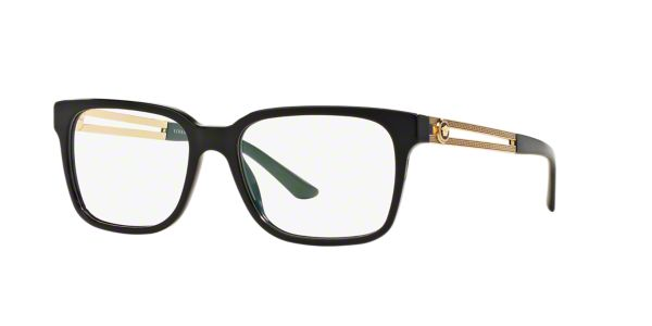55d0d23265 VE3218  Shop Versace Black Square Eyeglasses at LensCrafters