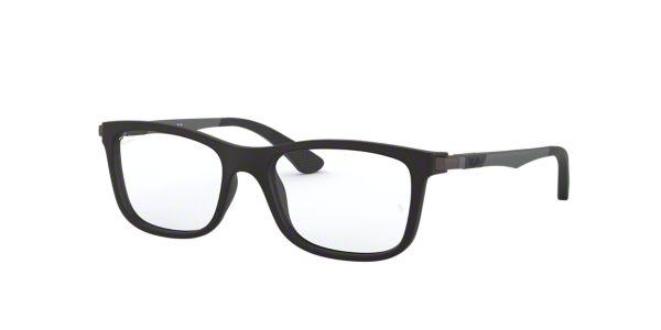 e8f0c22862 RY1549  Shop Ray-Ban Jr Black Square Eyeglasses at LensCrafters