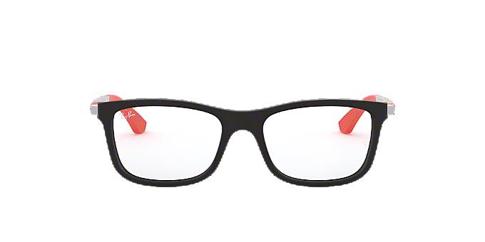 RY1549: Shop Ray-Ban Jr Black Square Eyeglasses at LensCrafters