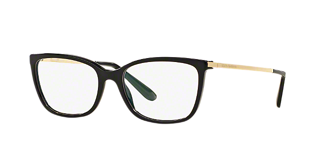 81ed8abc377 DG3243  Shop Dolce   Gabbana Black Square Eyeglasses at LensCrafters