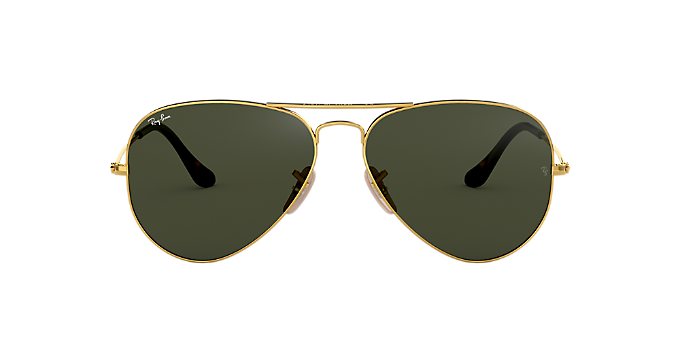155244ec159 RB3025 58 ORIGINAL AVIATOR  Shop Ray-Ban Gold Pilot Sunglasses at ...