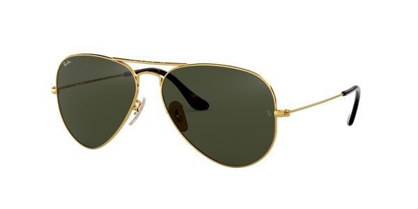 5f4f1f73ace RB3025 58 ORIGINAL AVIATOR  Shop Ray-Ban Gold Pilot Sunglasses at  LensCrafters
