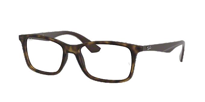 d74f789c65 RX7047: Ver Espejuelos rectangulares Ray-Ban Tortoise en LensCrafters