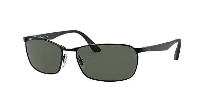 cdf69ff4b2a RB3534 59  Shop Ray-Ban Black Pillow Sunglasses at LensCrafters
