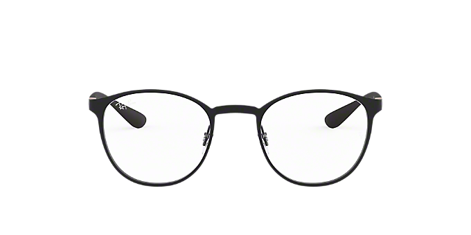 RX6355: Shop Ray-Ban Black Round Eyeglasses at LensCrafters