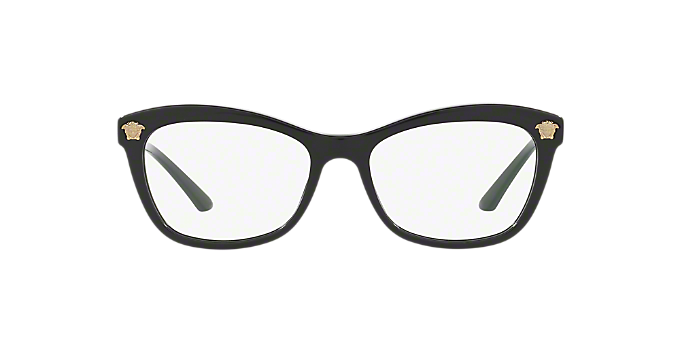 VE3224: Shop Versace Black Butterfly Eyeglasses at LensCrafters