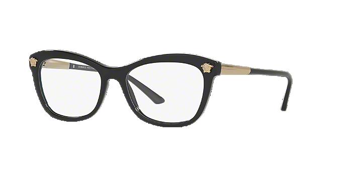 0e5a82fc480d VE3224  Shop Versace Black Butterfly Eyeglasses at LensCrafters