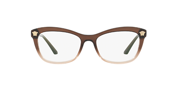 VE3224: Shop Versace Brown/Tan Butterfly Eyeglasses at LensCrafters