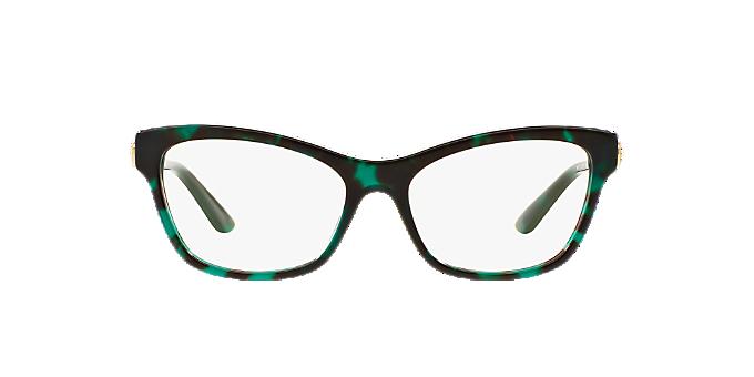 VE3214: Shop Versace Green Cat Eye Eyeglasses at LensCrafters
