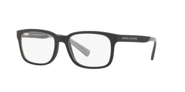 b608525df6 AX3029: Ver Espejuelos cuadrados Armani Exchange Black en LensCrafters