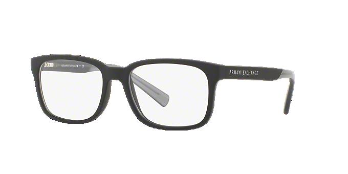 8cc2b595bf AX3029: Ver Espejuelos cuadrados Armani Exchange Black en LensCrafters