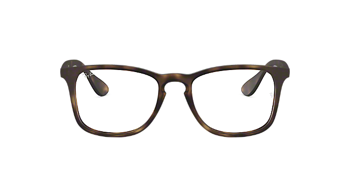 c3fdb97f55 RX7074  Shop Ray-Ban Tortoise Square Eyeglasses at LensCrafters