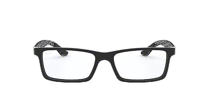 e445840cd14 RX8901  Shop Ray-Ban Silver Gunmetal Grey Rectangle Eyeglasses at ...