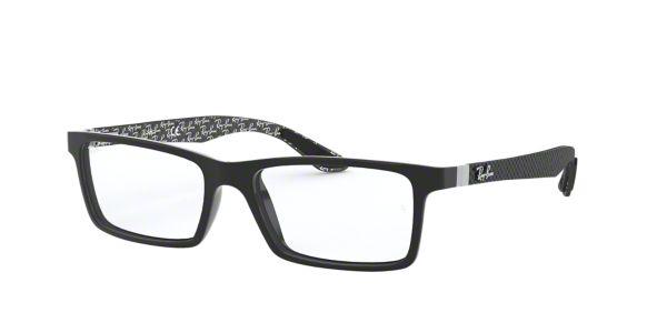 6316589c35f RX8901  Shop Ray-Ban Silver Gunmetal Grey Rectangle Eyeglasses at  LensCrafters