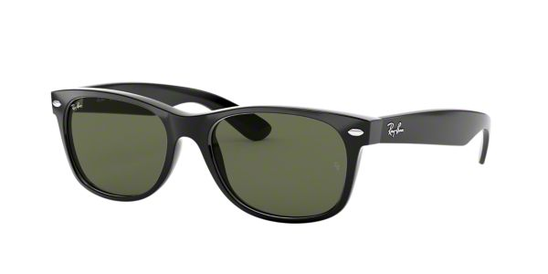 0eb0ea32d8a RB2132 58 NEW WAYFARER  Shop Ray-Ban Black Square Sunglasses at LensCrafters