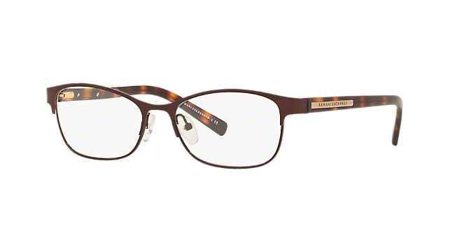 be7ac45840 AX1010  Shop Armani Exchange Brown Tan Oval Eyeglasses at LensCrafters