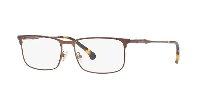 8f7b2d3f42 BB1046  Shop Brooks Brothers Brown Tan Rectangle Eyeglasses at LensCrafters