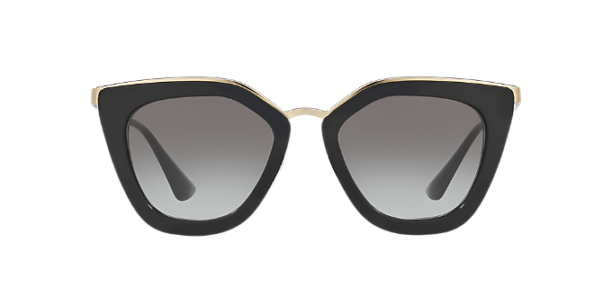 a2484869c654 PR 53SS 52  Shop Prada Black Cat Eye Sunglasses at LensCrafters