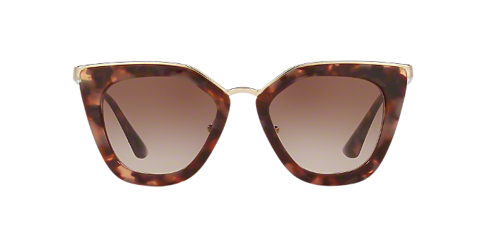 42af67cfbe2 PR 53SS 52  Shop Prada Brown Tan Cat Eye Sunglasses at LensCrafters