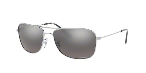 f55e62745d0 RB3543 59  Shop Ray-Ban Silver Gunmetal Grey Pilot Sunglasses at  LensCrafters