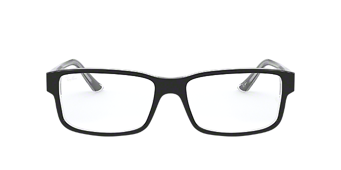 d1917cad277 RX5245  Shop Ray-Ban Black Square Eyeglasses at LensCrafters