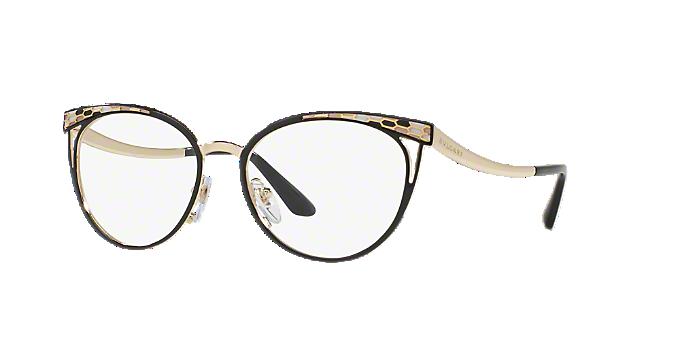 BV2186: Shop Bulgari Black Cat Eye Eyeglasses at LensCrafters