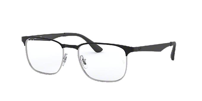 RX6363: Shop Ray-Ban Black Square Eyeglasses at LensCrafters