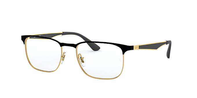 RX6363: Shop Ray-Ban Black Square Eyeglasses at LensCrafters