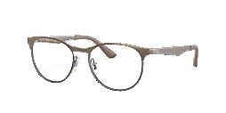 55fb98da9f RX6365  Shop Ray-Ban Brown Tan Square Eyeglasses at LensCrafters