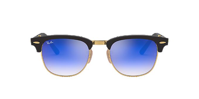 7c14e31005 RB2176 51 CLUBMASTER F  Shop Ray-Ban Black Square Sunglasses at ...