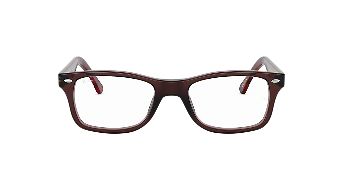 c9f5d701442ab RX5228  Shop Ray-Ban Brown Tan Square Eyeglasses at LensCrafters