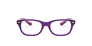 b7cd34622e RY1555  Shop Ray-Ban Jr Blue Square Eyeglasses at LensCrafters
