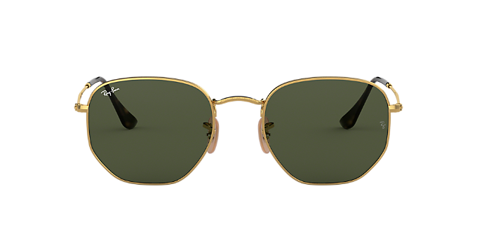 8051a815578 RB3548N 51  Shop Ray-Ban Gold Square Sunglasses at LensCrafters