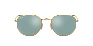 88f58423fbe RB3548N 51  Shop Ray-Ban Gold Square Sunglasses at LensCrafters