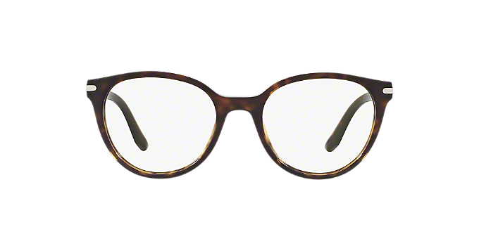 PR 07TV: Shop Prada Tortoise Round Eyeglasses at LensCrafters