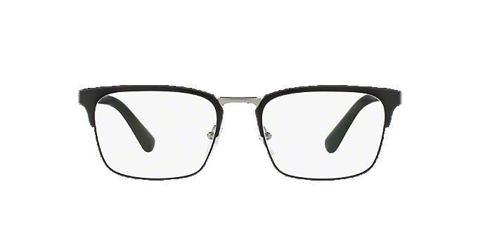 PR 54TV: Shop Prada Black Rectangle Eyeglasses at LensCrafters