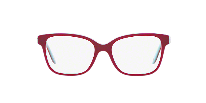 TF2141: Shop Tiffany Red/Burgundy Square Eyeglasses at LensCrafters