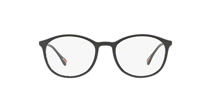 31c45d58c2b3 PS 04HV  Shop Prada Linea Rossa Black Pillow Eyeglasses at LensCrafters
