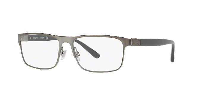 94bde6eeb4f RL5095  Shop Ralph Lauren Silver Gunmetal Grey Rectangle Eyeglasses ...