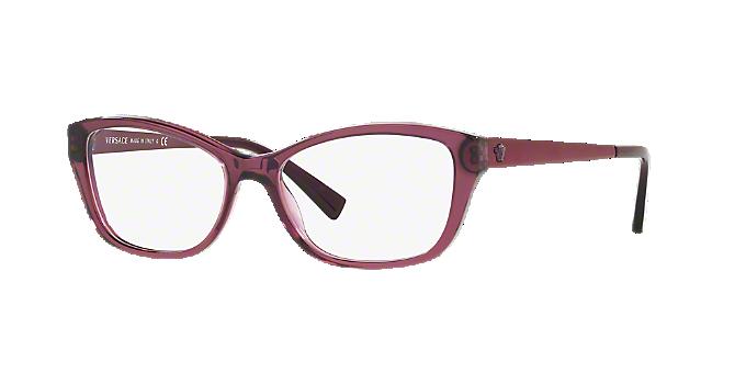 f7f634de25 VE3236  Shop Versace Pink Purple Cat Eye Eyeglasses at LensCrafters