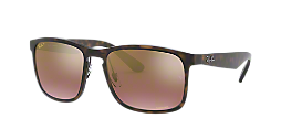 0a11fa69aa0761 RB4264 58  Shop Ray-Ban Tortoise Square Sunglasses at LensCrafters