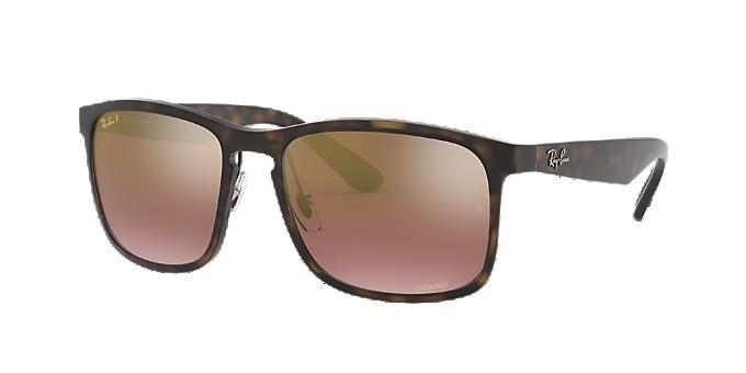 33e25a28c8 RB4264 58: Ver Gafas de sol cuadradas Ray-Ban Tortoise en LensCrafters