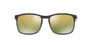 998e3111fb0 RB4264 58  Shop Ray-Ban Black Square Sunglasses at LensCrafters
