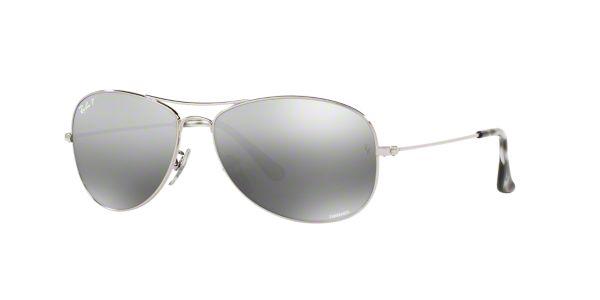c6968023cf1 RB3562 59  Shop Ray-Ban Silver Gunmetal Grey Pilot Sunglasses at  LensCrafters